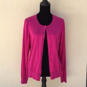 BANANA REPUBLIC hot pink cardigan
